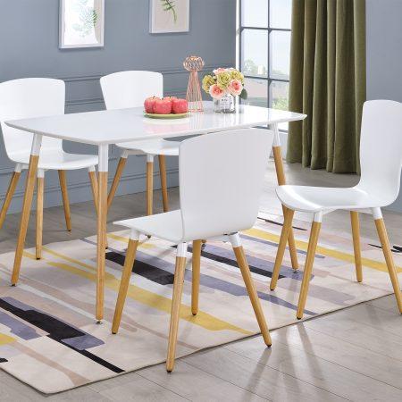 Swan Rectangular+4 Swan Chairs